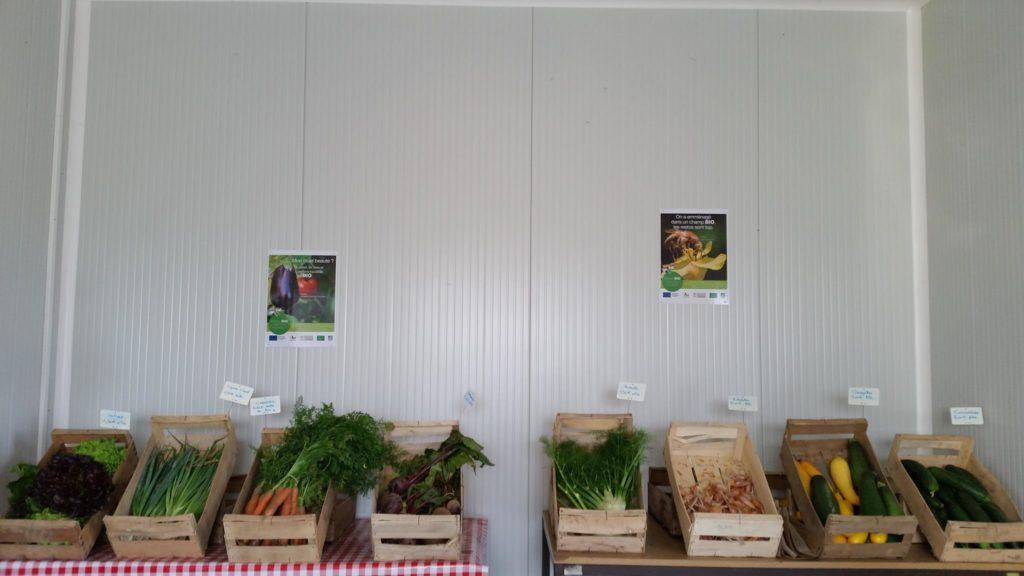 vente a la ferme légumes fruits miel oeufs rillettes huile farine fruits secs maraîchage bio biologique